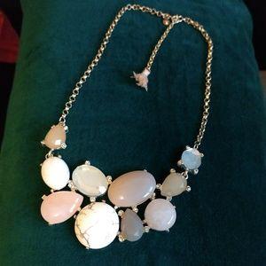 LOFT Multi Gem Stone Collar Necklace